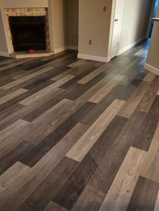 Multi-color wood-look flooring in Scottsdale, AZ from State 48 Floors