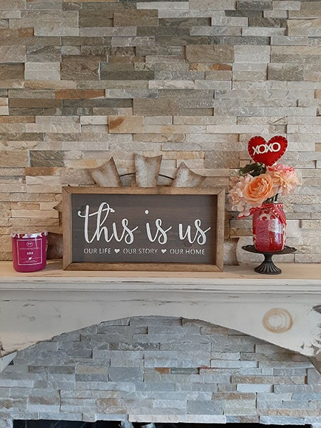 This is us sign ~ $25, Size ~ 8 x 14