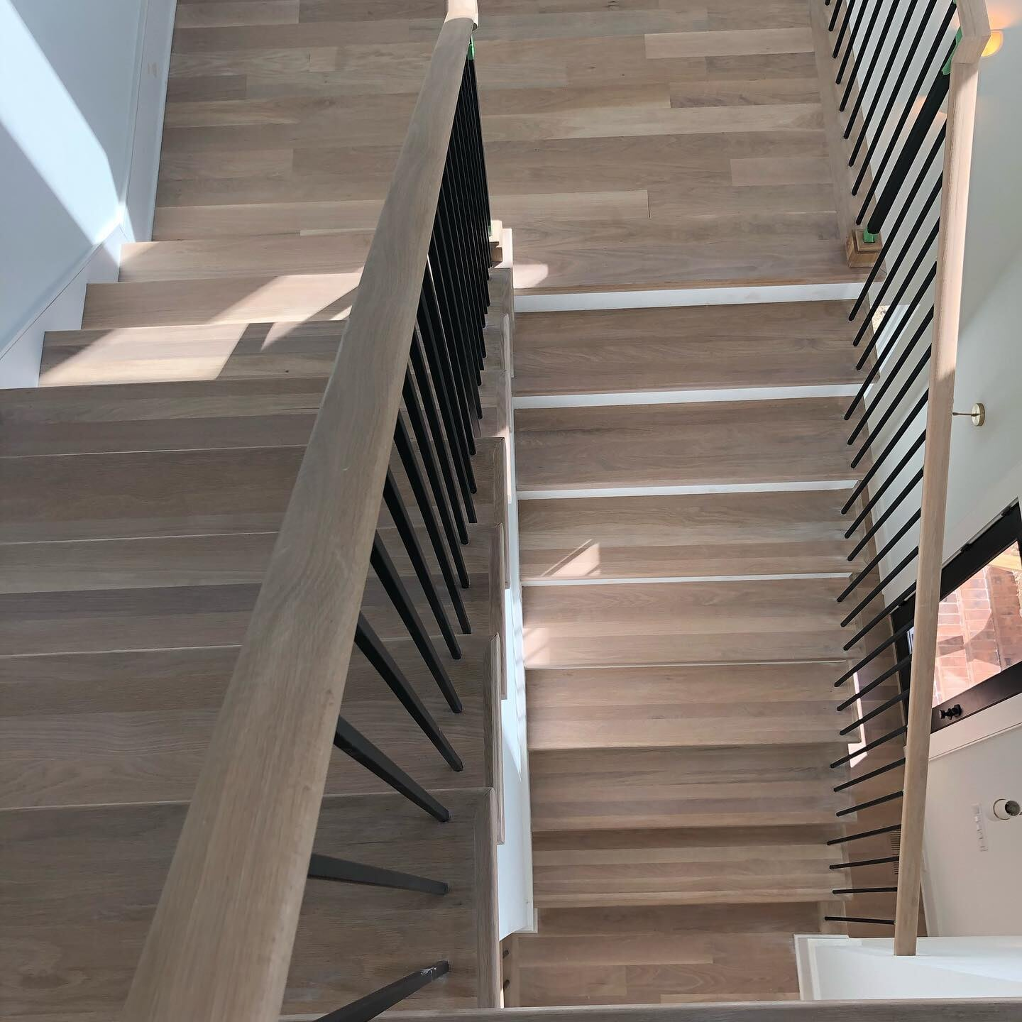 Hardwood stairs in Charlotte, NC from Space Floors