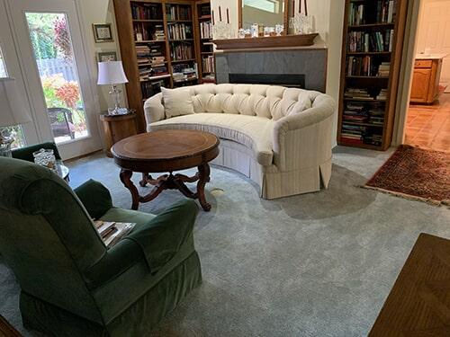 new carpet in living