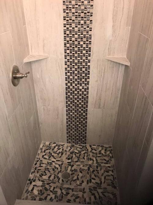 speckled shower