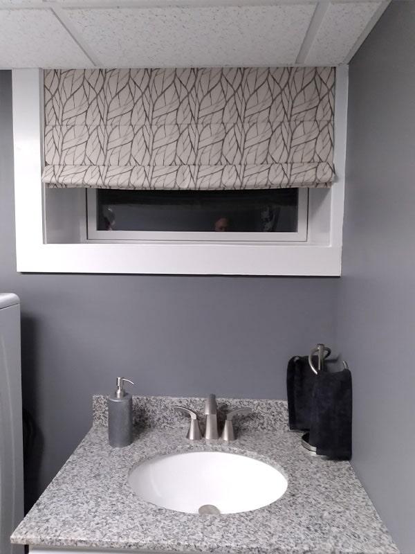 Bathroom window covering in Lewisburg, PA from Kissingers Floor & Wall