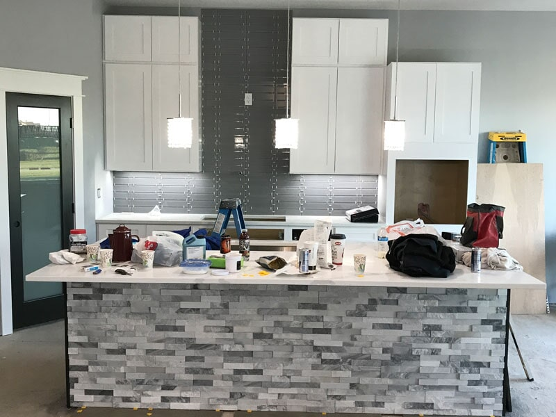 Kitchen backsplash in Bondurant, IA from Floors 4 Iowa