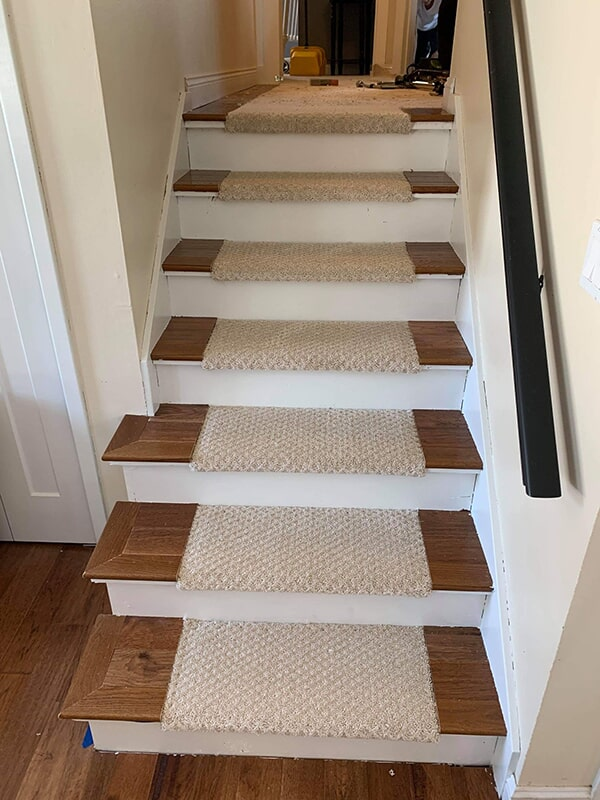 Stair runner in Des Moines, IA from Floors 4 Iowa