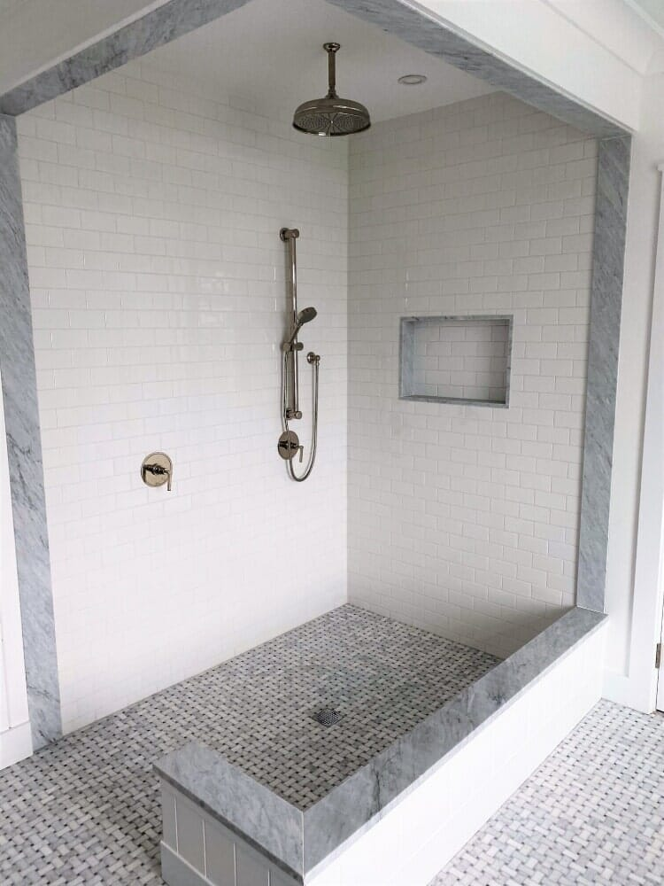 Subway tile shower in Hyannis, MA from Paramount Rug Company