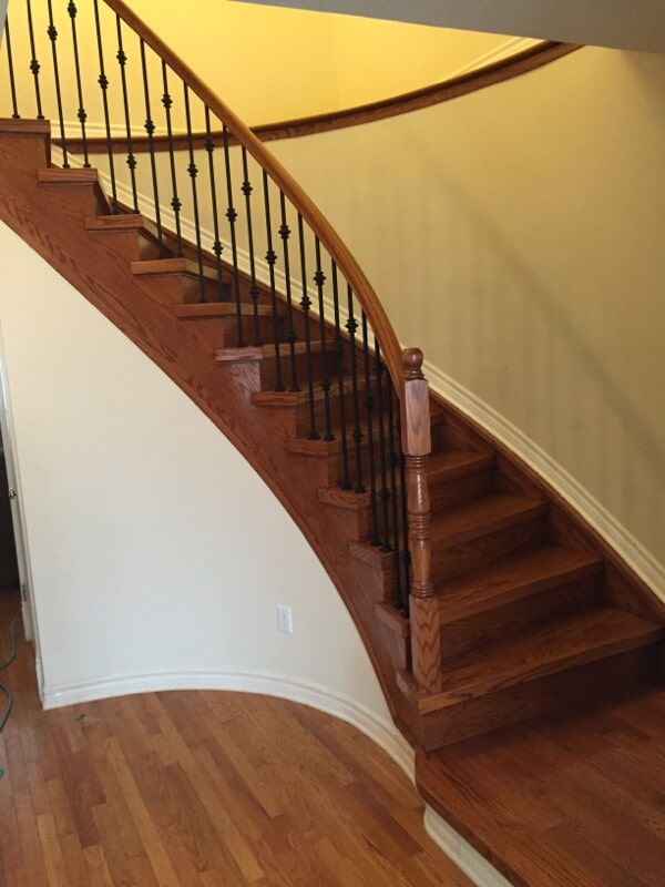 Harwood staircase in Ottawa, ON from Advantage Flooring