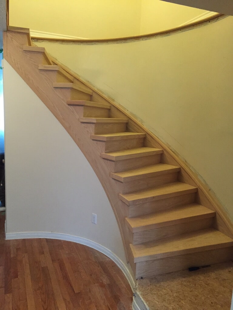 Wood stairs in Kanata, ON from Advantage Flooring