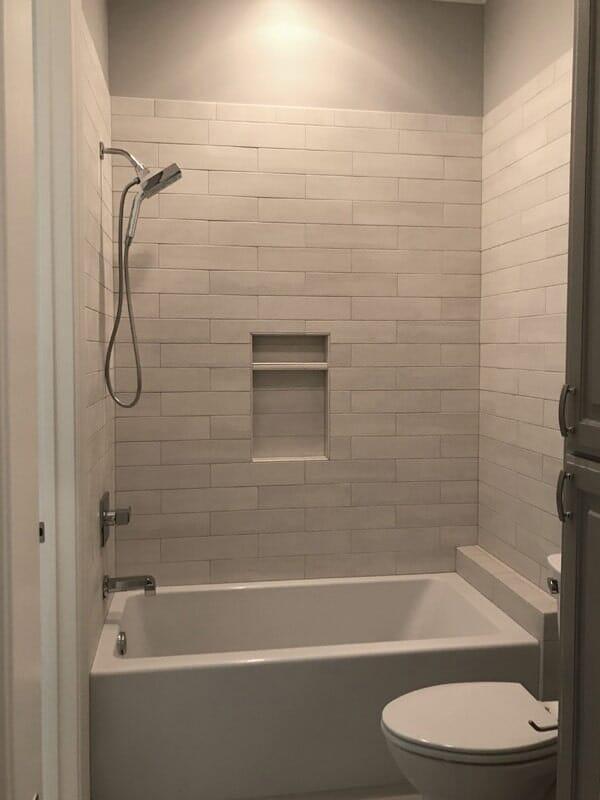 Modern shower installation in Donaldsonville, LA from Marchand's Interior & Hardware