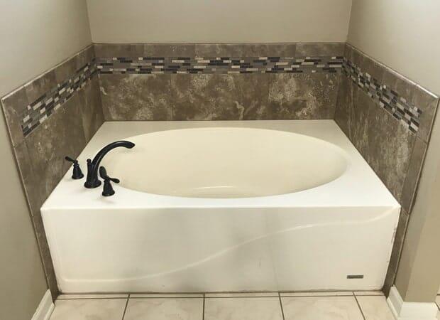Soaking tub installation in Ascension Parish, LA from Marchand's Interior & Hardware
