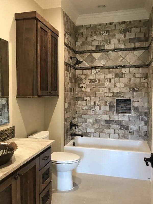 Rustic bathroom design in Donaldsonville, LA from Marchand's Interior & Hardware