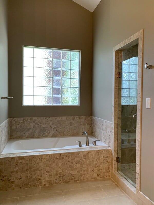 Custom bath tile in Ascension Parish, LA from Marchand's Interior & Hardware