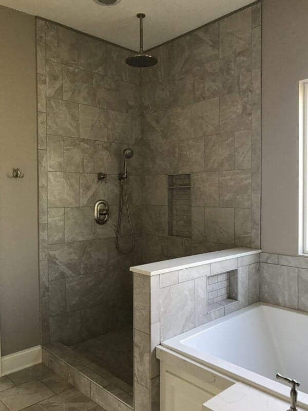 Open shower design in Baton Rouge, LA from Marchand's Interior & Hardware