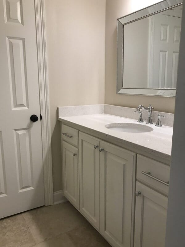 Contemporary bathroom vanity in Donaldsonville, LA from Marchand's Interior & Hardware