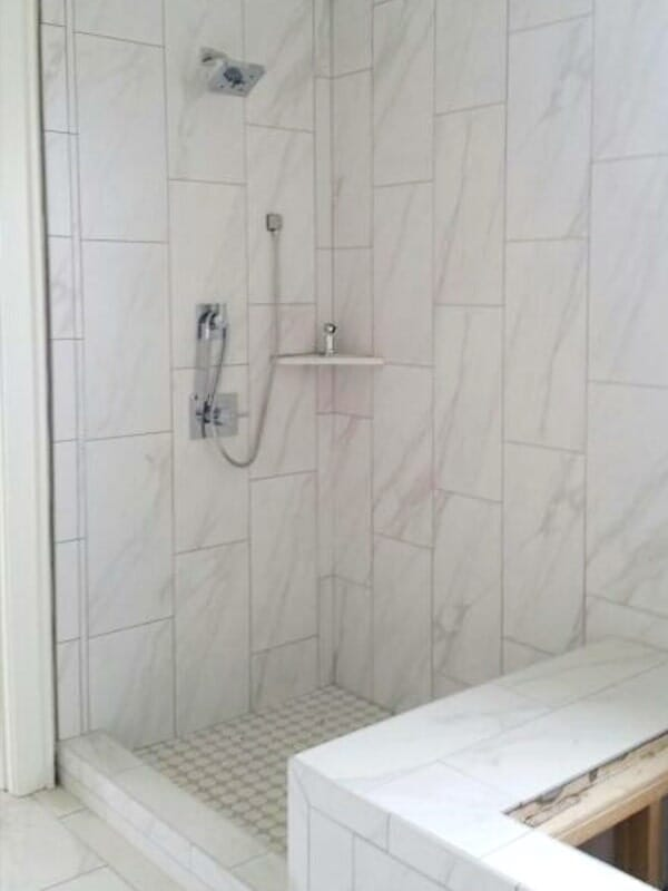 Vertical marble tile in Prairieville, LA from Marchand's Interior & Hardware