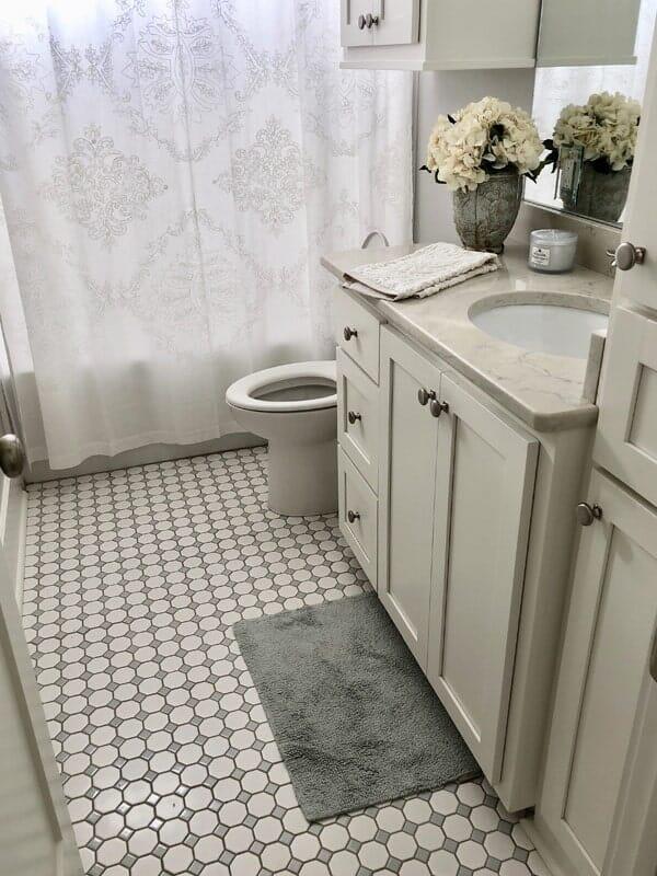 Geometric bathroom tile in Ascension Parish, LA from Marchand's Interior & Hardware
