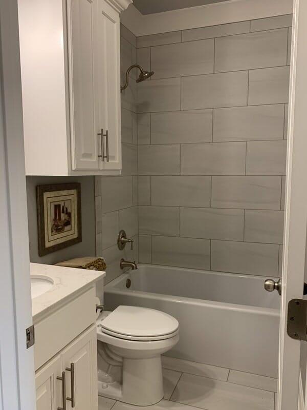 Modern bathroom design in Gonzales, LA from Marchand's Interior & Hardware