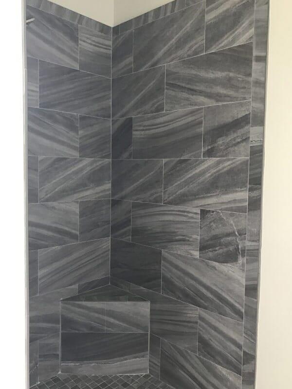 Modern shower tile in Donaldsonville, LA from Marchand's Interior & Hardware