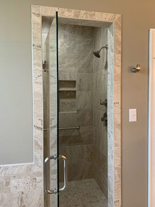 Walk-in shower remodel in Donaldsonville, LA from Marchand's Interior & Hardware