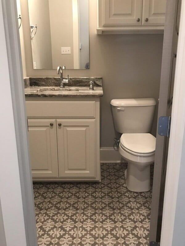 Mosaic bathroom flooring in Ascension Parish, LA from Marchand's Interior & Hardware
