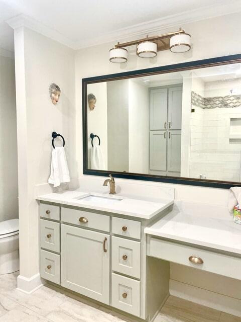 Contemporary bathroom design in Ascension Parish, LA from Marchand's Interior & Hardware