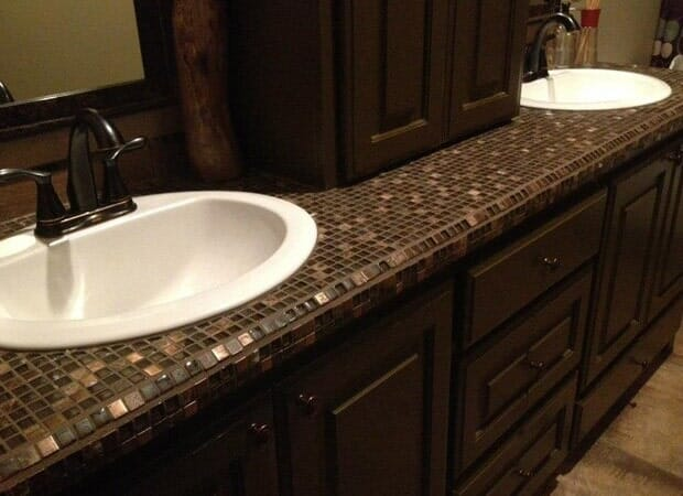 Glass tile countertop in Gonzales, LA from Marchand's Interior & Hardware