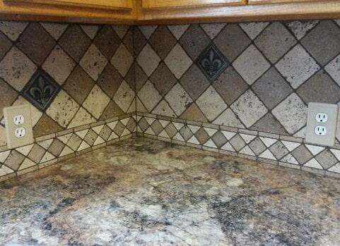 Rustic backsplash tile in Prairieville, LA from Marchand's Interior & Hardware