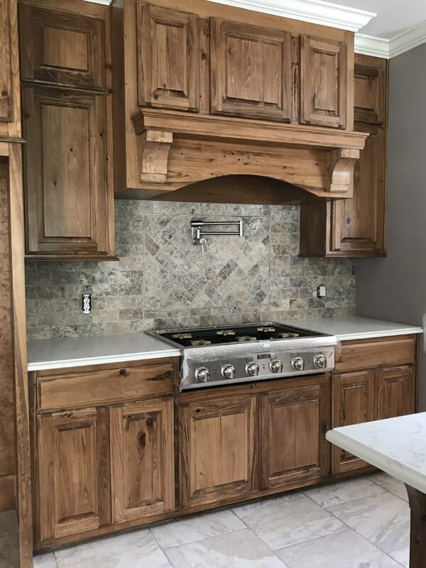 Natural wood cabinets in Gonzales, LA from Marchand's Interior & Hardware