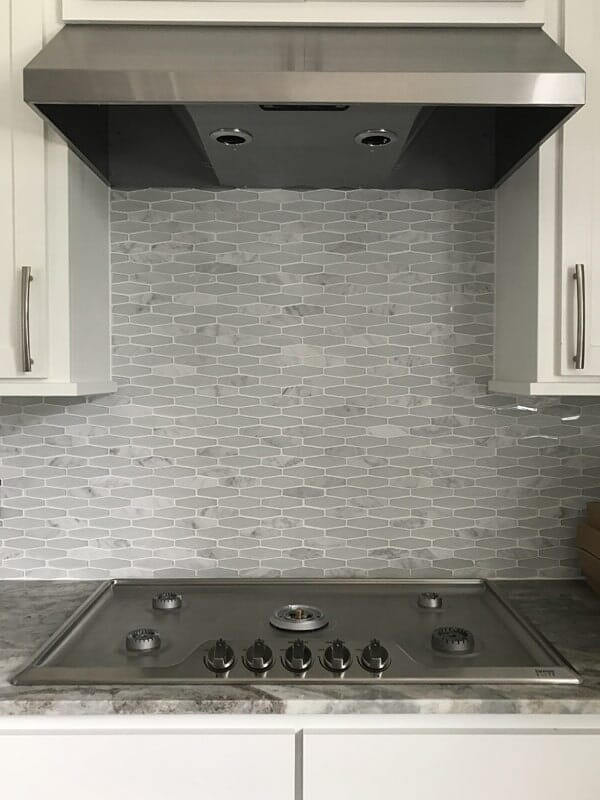 Modern tile backsplash in Baton Rouge, LA from Marchand's Interior & Hardware