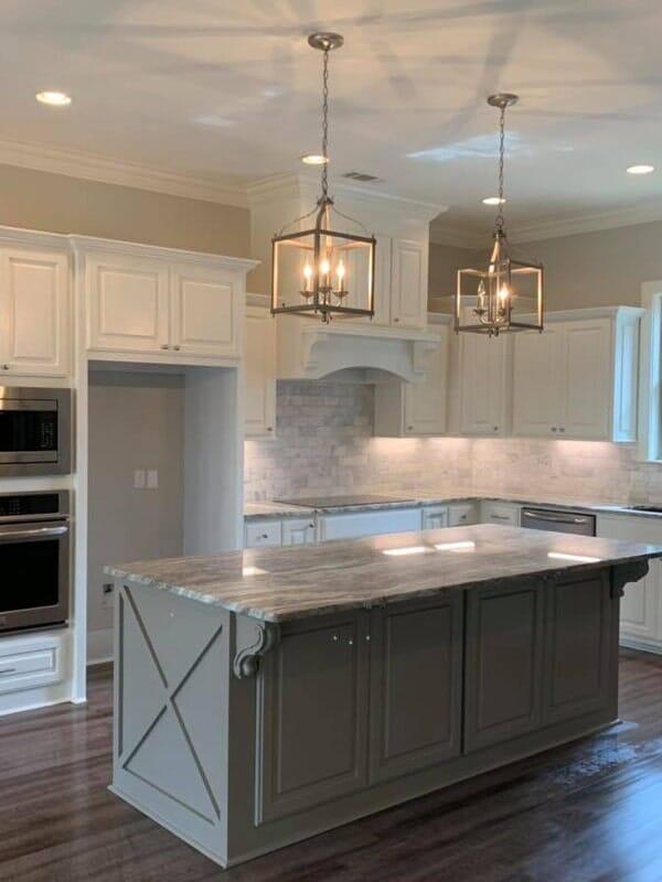 Farmhouse kitchen design in Donaldsonville, LA from Marchand's Interior & Hardware