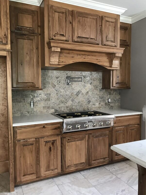 Rustic cabinets in Gonzales, LA from Marchand's Interior & Hardware