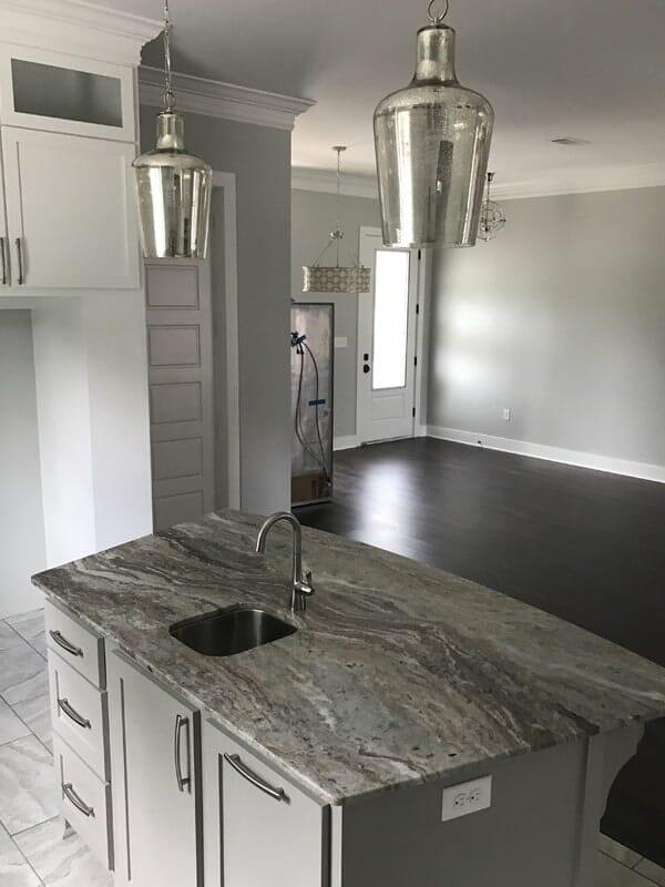 Custom kitchen island in Prairieville, LA from Marchand's Interior & Hardware