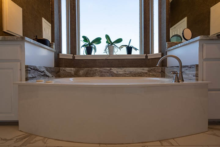 Tub installation in Lewisville, TX from Floor & Wall Design