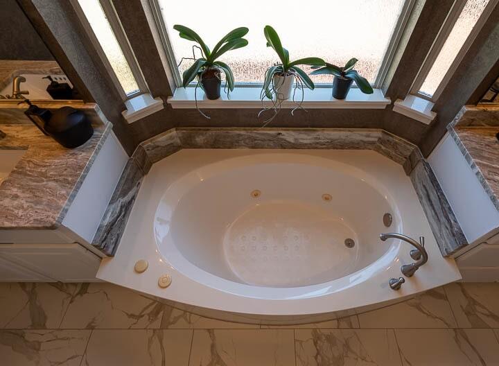 Spa bathroom in Lewisville, TX from Floor & Wall Design