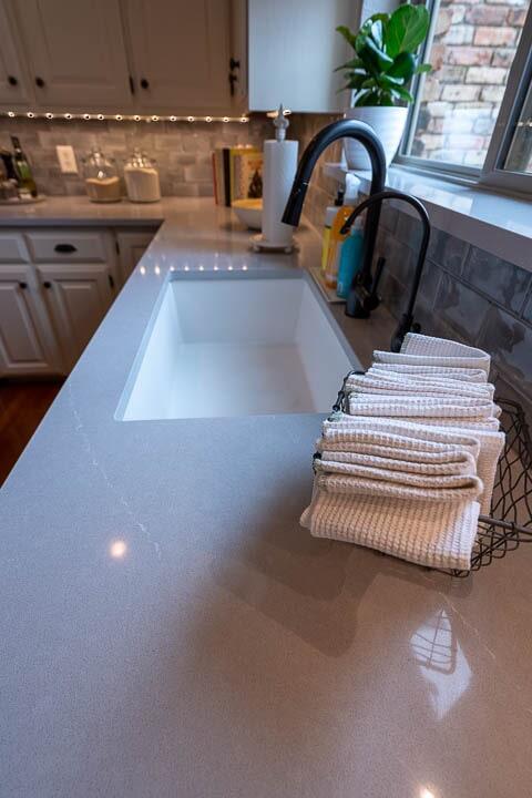 Kitchen sink installation in Lewisville, TX from Floor & Wall Design