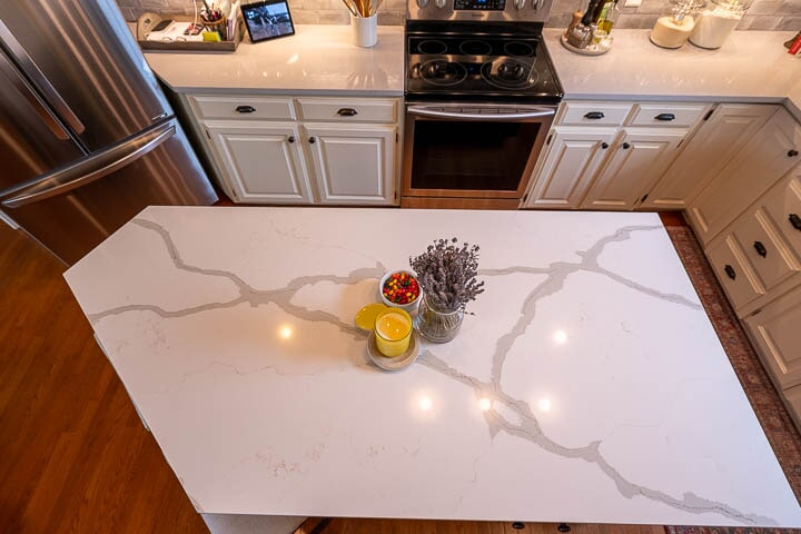 Natural stone countertop in Lewisville, TX from Floor & Wall Design