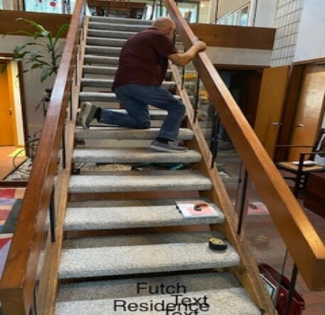 Custom carpeted stairs in Lakeland, FL from Williford Flooring Company Inc.