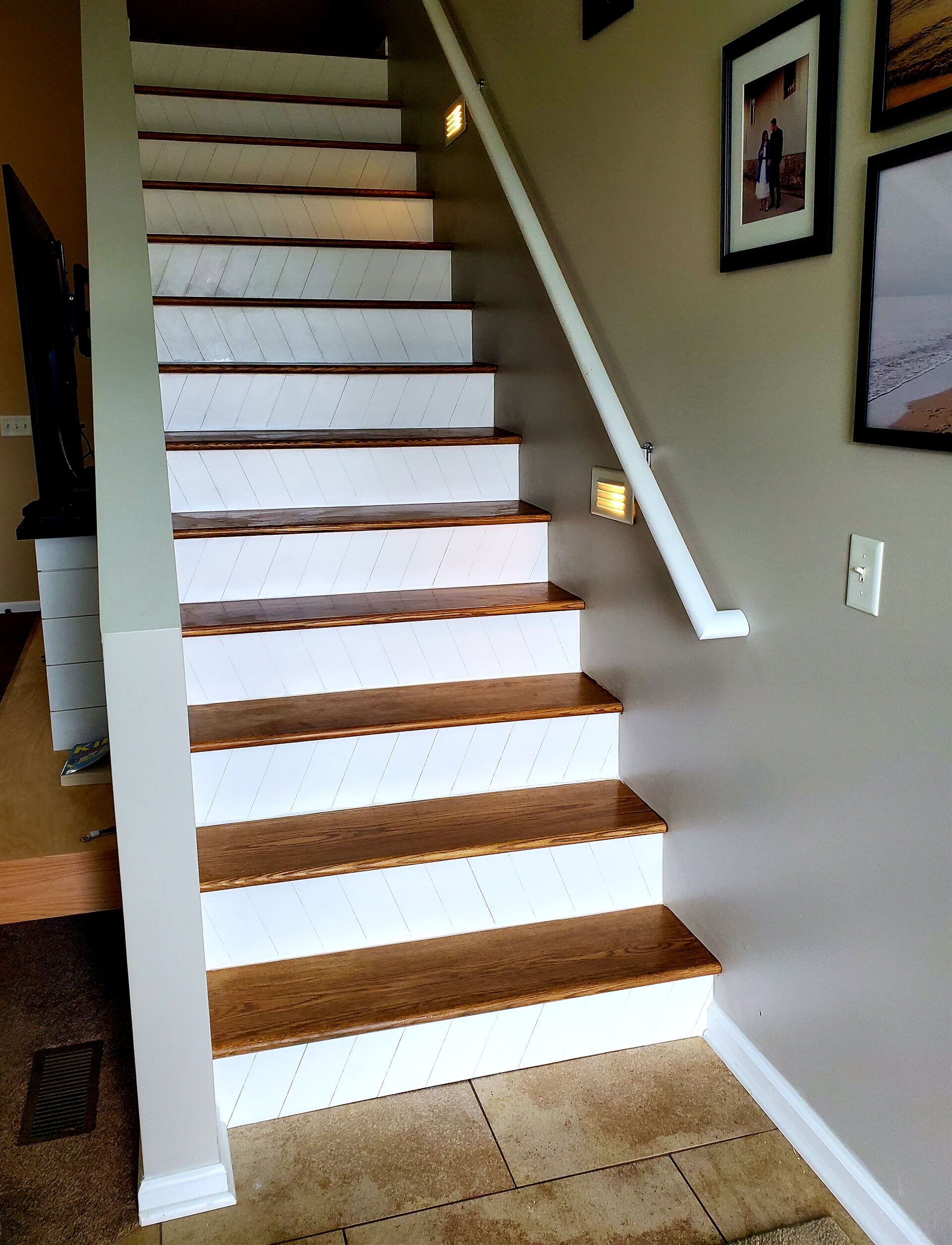 Wood stairs in Grand Rapids, MI from Absolute Floor Covering