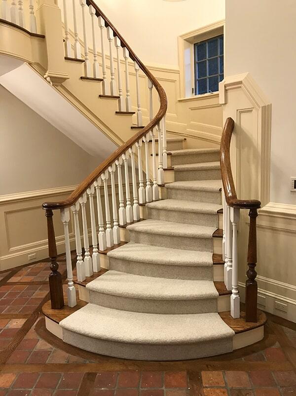 Carpet stair runner in Fairfield, NY from White Plains Carpets, Floors & Blinds