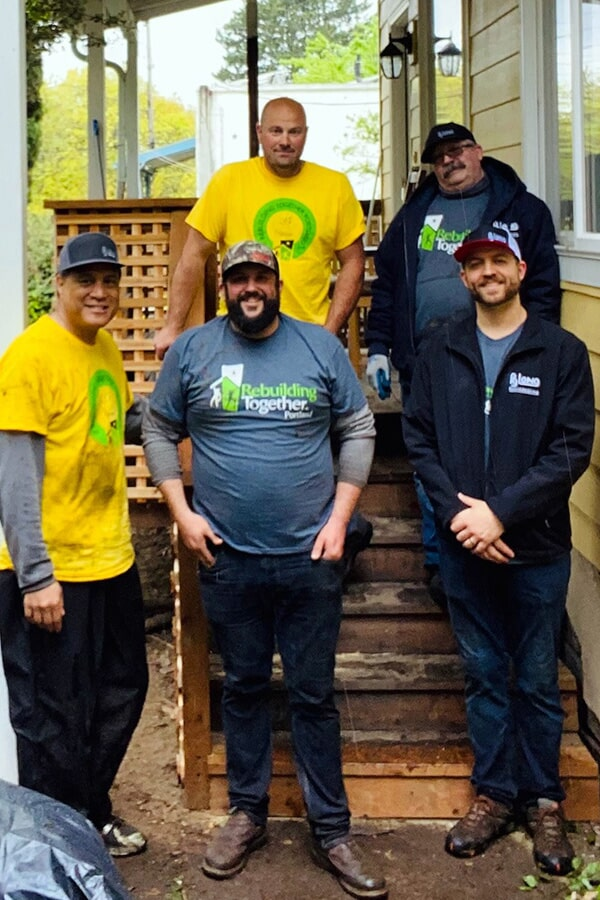 Rebuilding Together - Repairing stairs for an elderly resident
