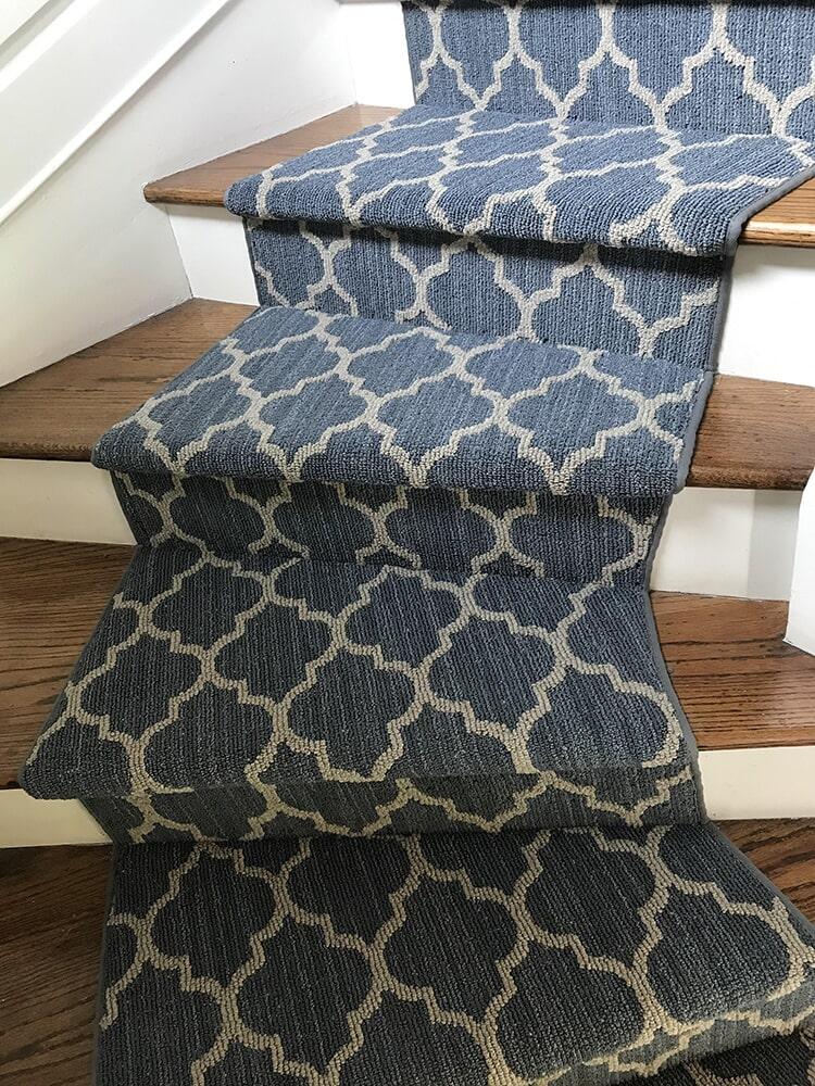 Tuftex carpet stairs Taza II in color Coastal in Bellevue, WA from Vogel's Carpet & Flooring