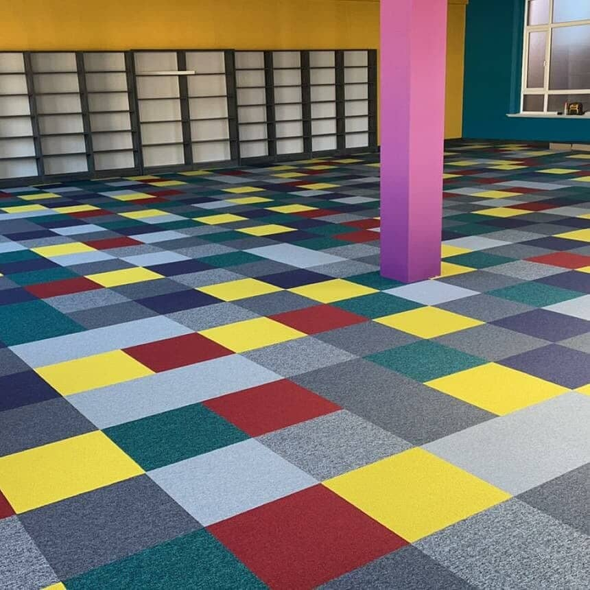 Carpeting in school library in County Cork, Munster from AreA Carpet & Floor