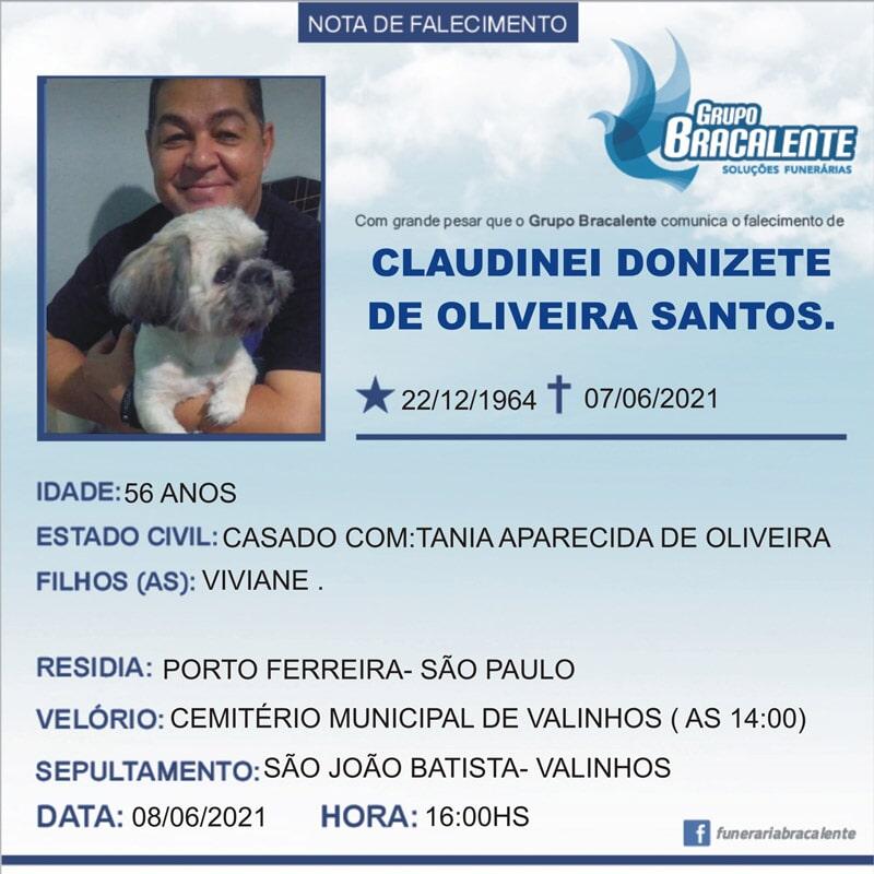 Claudinei Donizete de Oliveira Santos   22/12/1964 - 07/06/2021