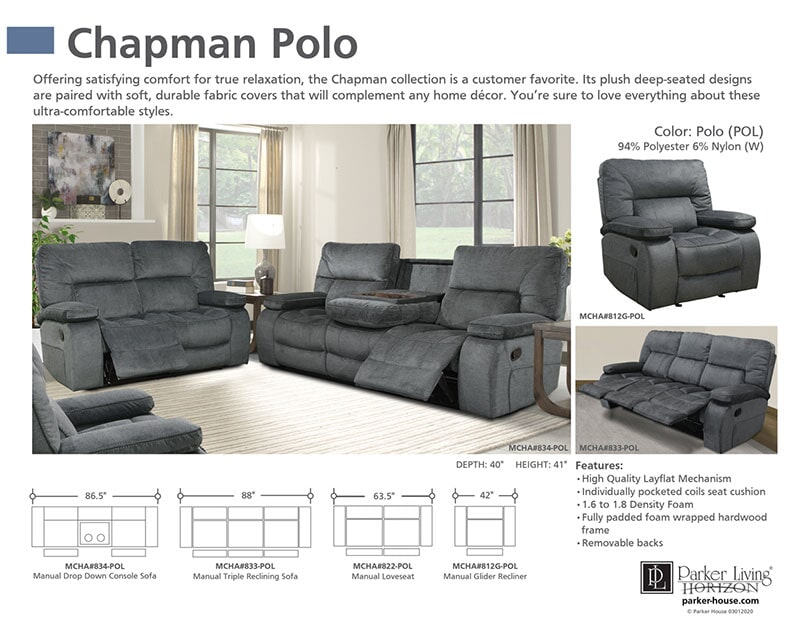 Parker-House-triple-recline-sofa