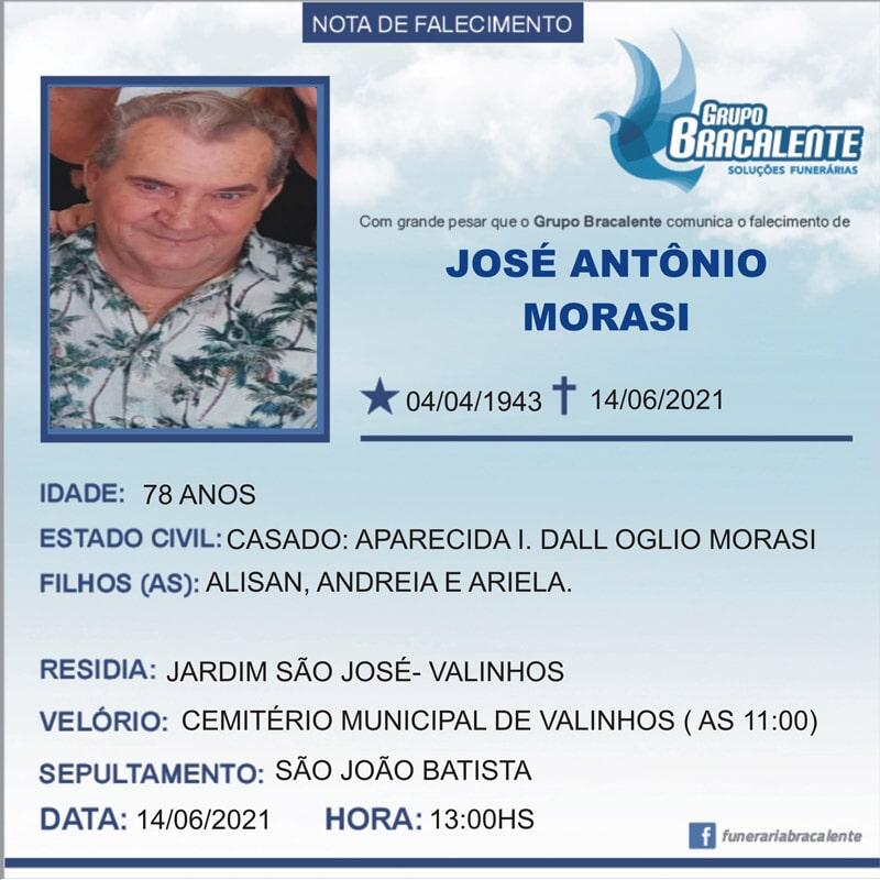 José Antônio Morasi   04/04/1943 - 14/06/2021