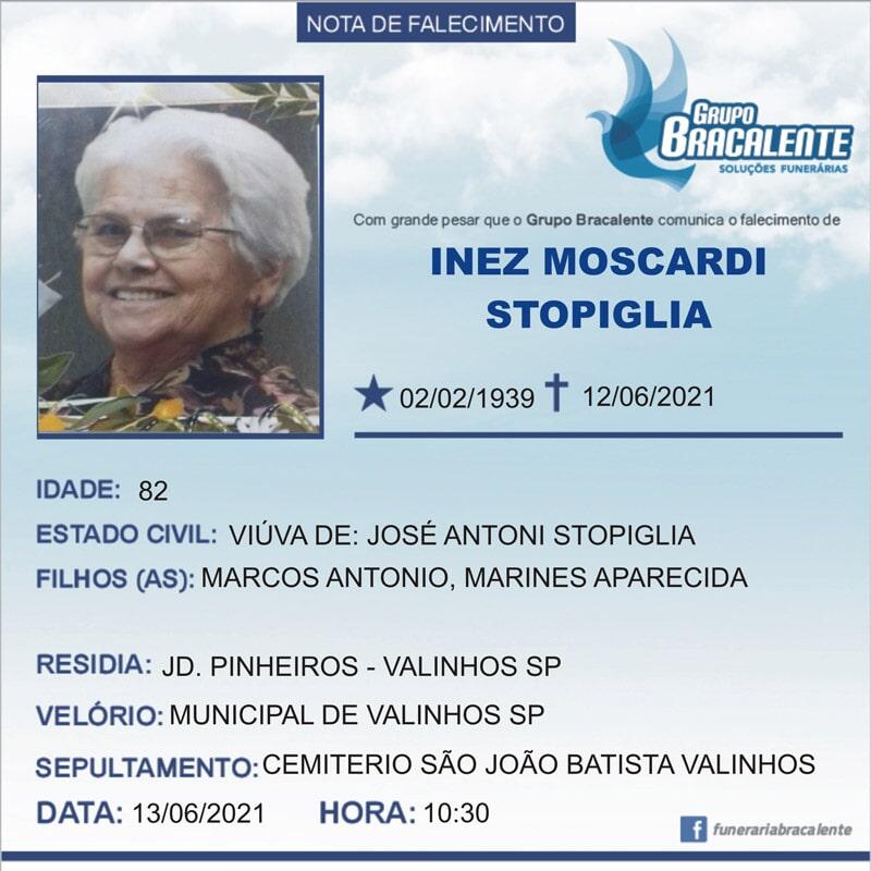 Inez Moscardi Stopiglia   02/02/1939 - 12/06/2021