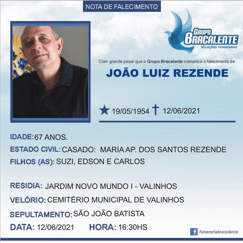 João Luiz Rezende   19/05/1954 - 12/06/2021
