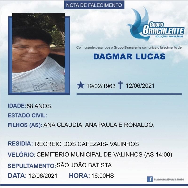 Dagmar Lucas   19/02/1963 - 12/06/2021