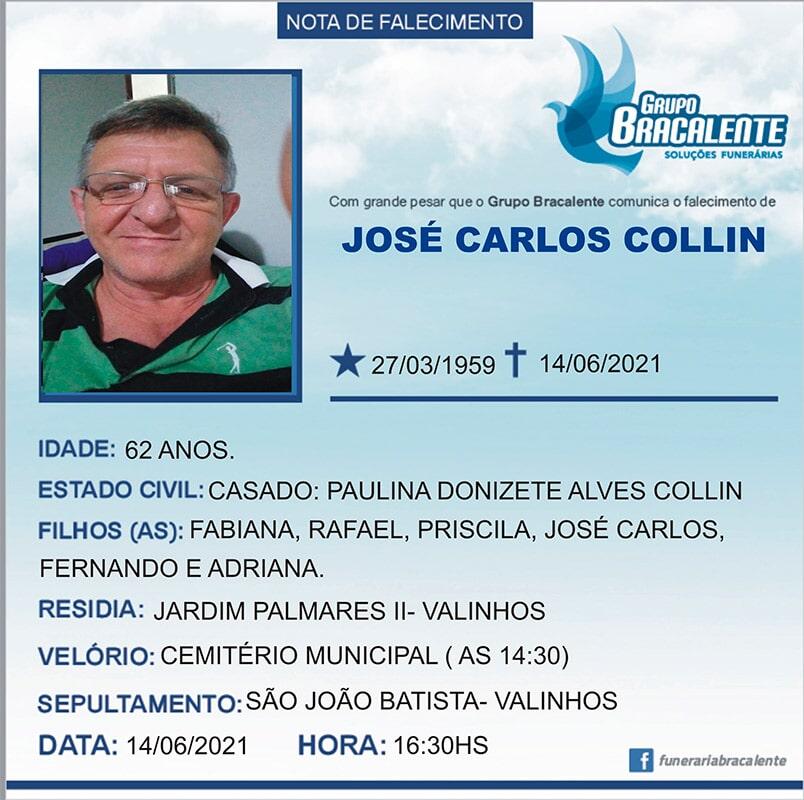 José Carlos Collin   27/03/1959 - 14/06/2021