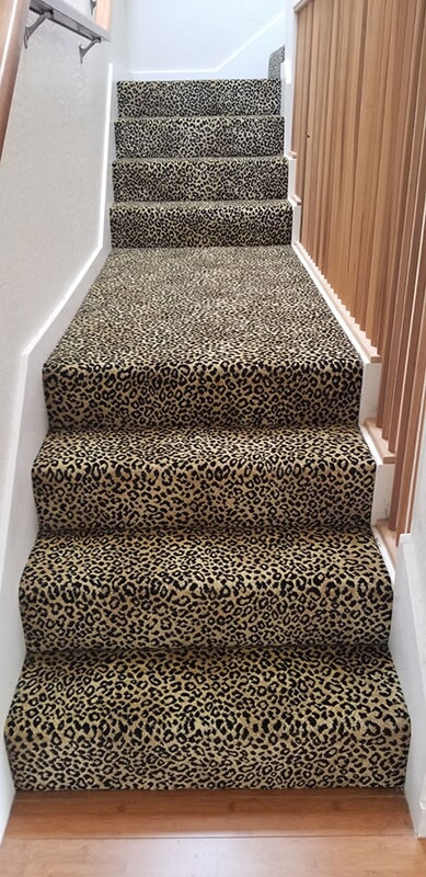 Leopard print stair carpet in Honolulu, HI