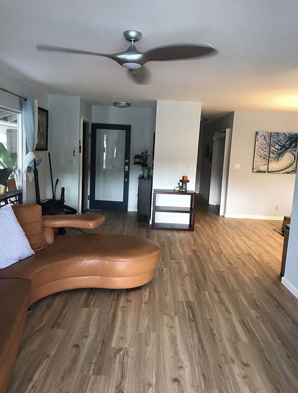 Pacifica Pro's Kohala Birch luxury vinyl flooring in Pearl City, HI